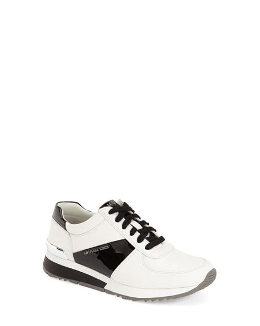 MICHAEL Michael Kors | Black 'allie' Sneaker | Lyst