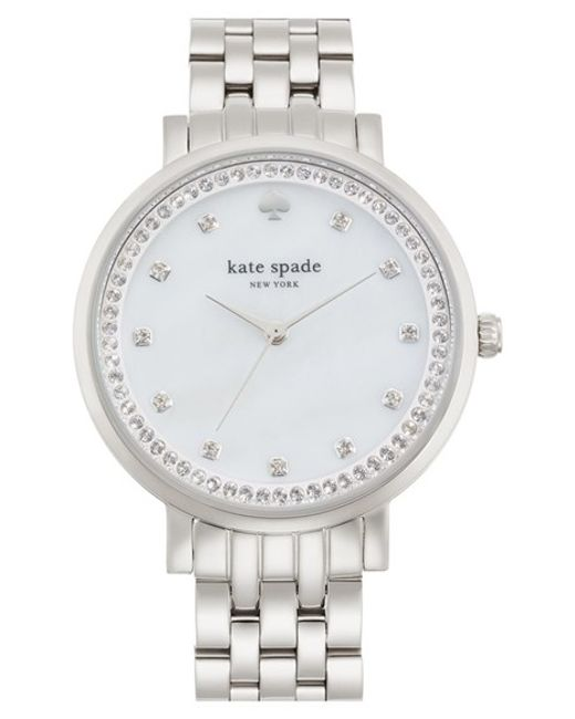 kate spade new york | Metallic 'monterey' Crystal Dial Bracelet Watch | Lyst