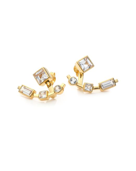 Elizabeth and James | Metallic Lewitt White Sapphire Ear Jacket & Stud Earrings Set | Lyst