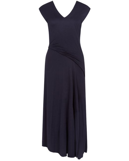 Nicole Farhi | Blue Asymmetric Midi Dress | Lyst