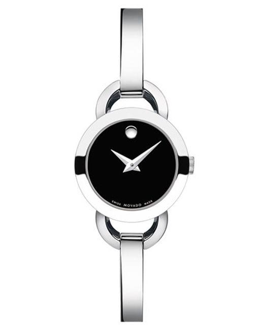 Movado | Metallic 'rondiro' Small Round Bangle Watch | Lyst