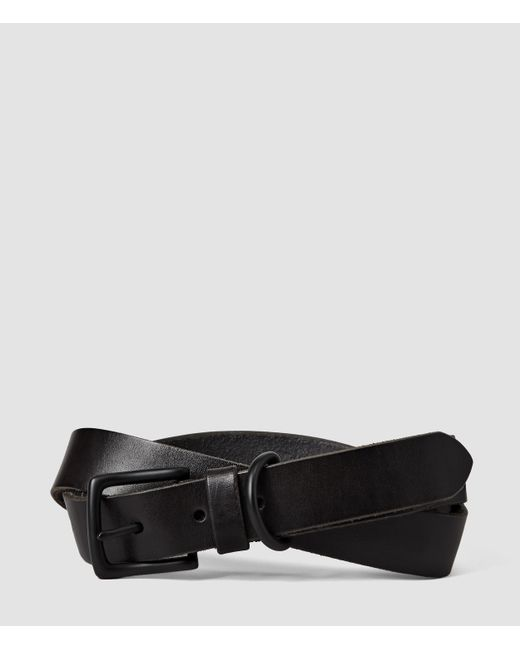 AllSaints | Black Stage Belt for Men | Lyst