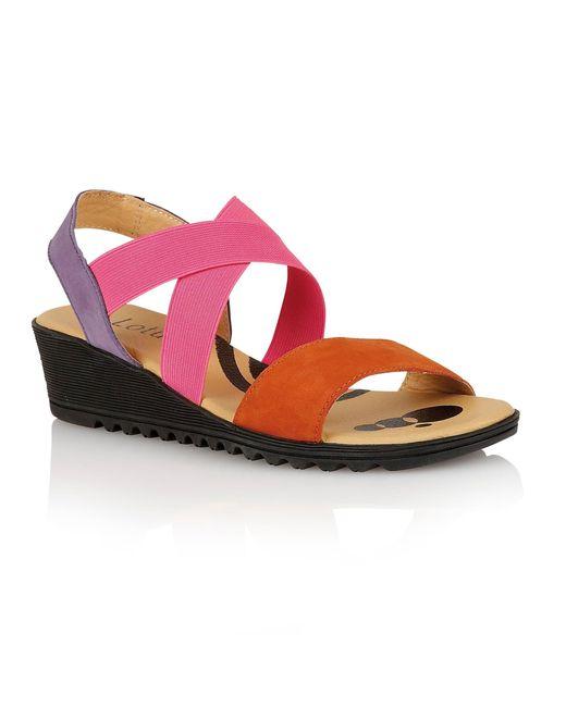Lotus | Orange Nettie Open Toe Sandals | Lyst