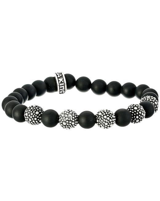 King Baby Studio | Black 8mm Onyx Bead Bracelet With 5 Stingray Beads | Lyst