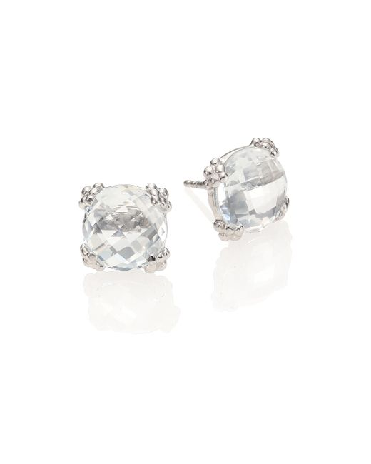 Anzie | Dew Drop White Topaz Stud Earrings | Lyst