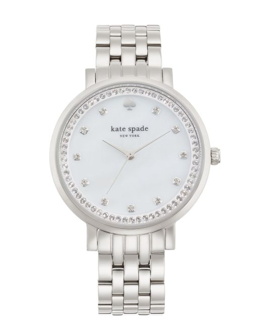 Kate Spade | White Gramercy Grand Watch | Lyst