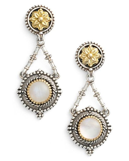 Konstantino | Metallic 'erato' Stone Drop Earrings | Lyst