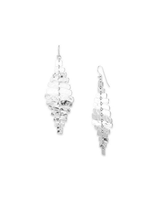 Robert Lee Morris | Metallic Sculptural Rectangular Linear Earrings | Lyst