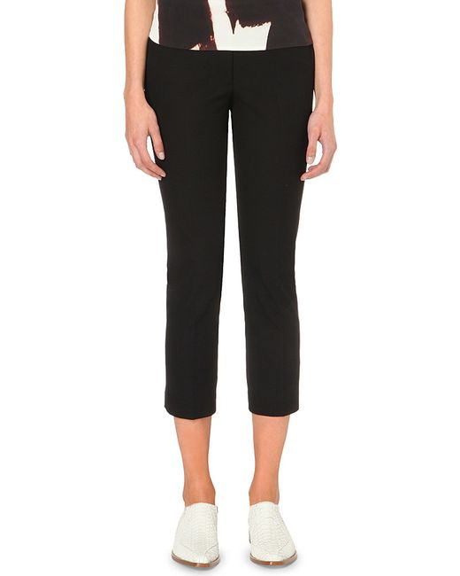 JOSEPH | Black Queen Slim-fit Stretch-twill Trousers | Lyst