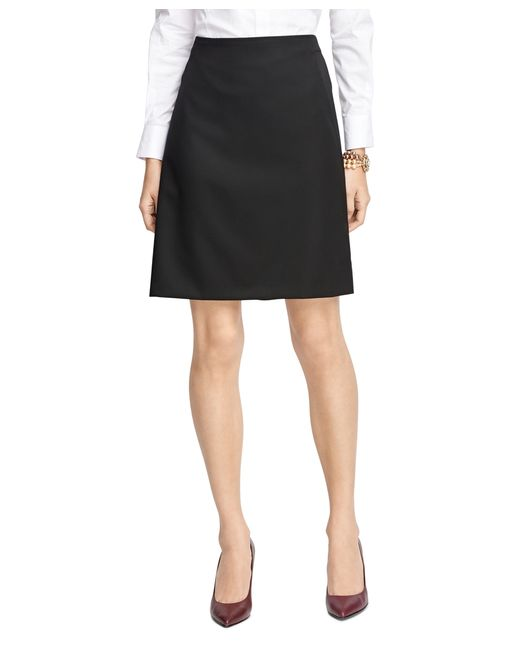 brothers wool a line skirt in black lyst