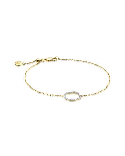 Monica Vinader   Metallic Riva Diamond Hoop Chain Bracelet   Lyst