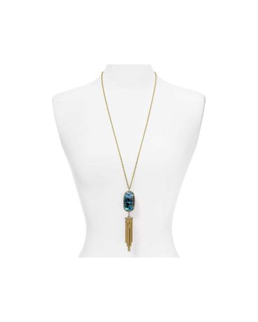 "Kendra Scott | Metallic Rayne Tassel Necklace, 38"" | Lyst"