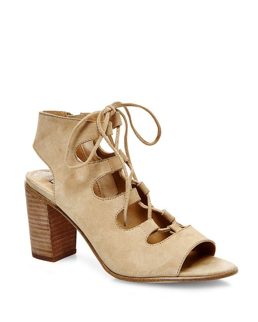 Steve Madden | Natural Nilunda Suede Lace-up Sandals | Lyst