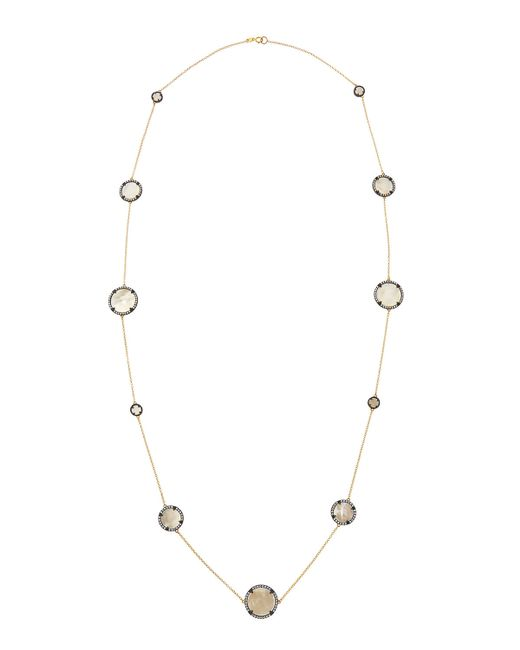 Freida Rothman | White Round Mother-of-pearl Station Necklace | Lyst