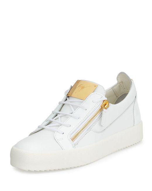 Giuseppe Zanotti Mens Patent Leather Low top Sneaker In