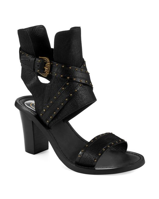 Ash | Black Quantum Heeled Sandals | Lyst