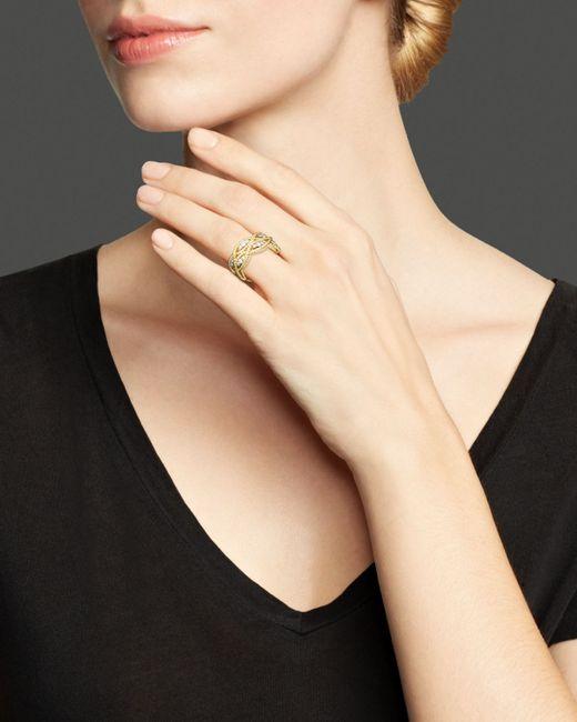 Roberto Coin | Metallic 18k Yellow Gold New Barocco Diamond Ring | Lyst