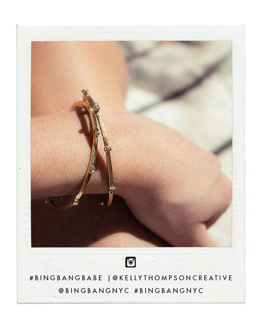 Bing Bang | Pink Crystal Skull Cuff | Lyst