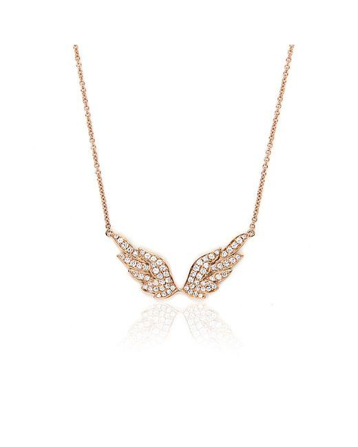 Anita Ko | Pink Rose Gold Wing Necklace | Lyst