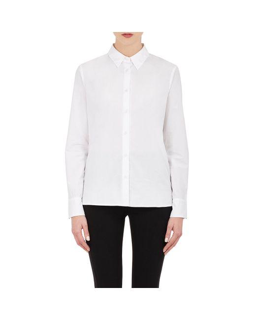 Rag bone women 39 s poppy button front shirt in white lyst for Rag and bone mens shirts sale