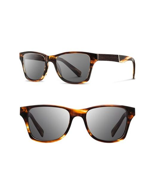 Shwood | Black 'canby' 53mm Sunglasses | Lyst