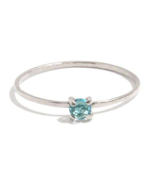 Melissa Joy Manning   Metallic Prong Set Blue Topaz Ring   Lyst