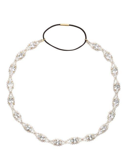 Dolce & Gabbana | Gold Swarovski Crystal Elastic Headband | Lyst