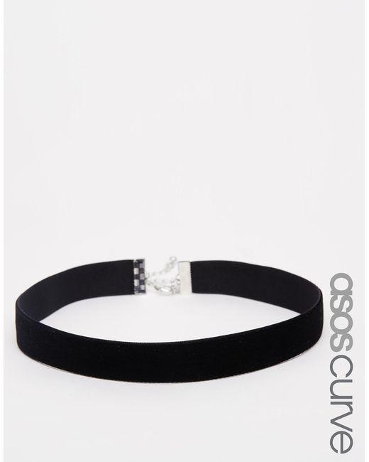 ASOS | Black Basic Velvet Choker Necklace | Lyst