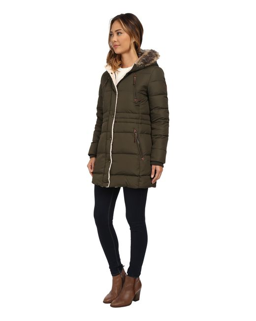 Lauren by Ralph Lauren | Green Quilted Parka | Lyst