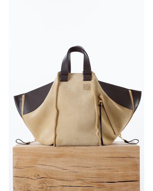 Loewe Suede Small Hammock Bag In Brown Lyst
