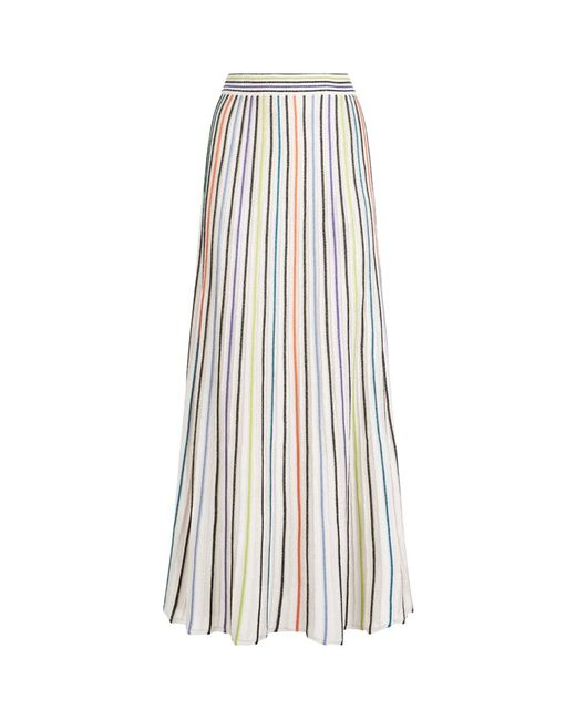 m missoni vertical stripe lurex maxi skirt in multicolor