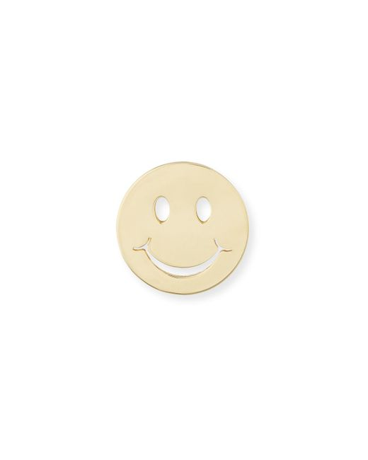 Sydney Evan | Metallic Pure Happy Face Stud Earring | Lyst