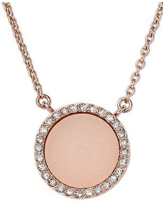 Michael Kors | Pink Mkj4330791 Ladies Necklace | Lyst