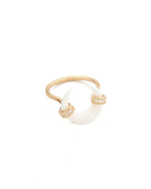Jacquie Aiche | Metallic Ja Bone Double Horn Ring | Lyst