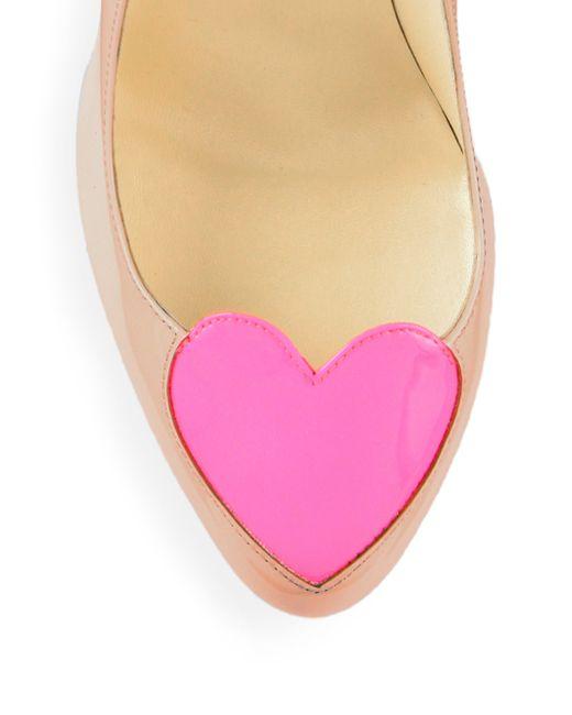 louis vuitton mens shoes cheap - Christian louboutin Doracora Heart Patent Leather Pumps in Pink ...