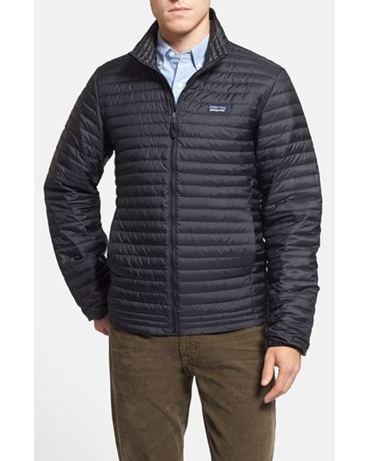 Patagonia Packable Quilted Down Shirt Jacket Black In