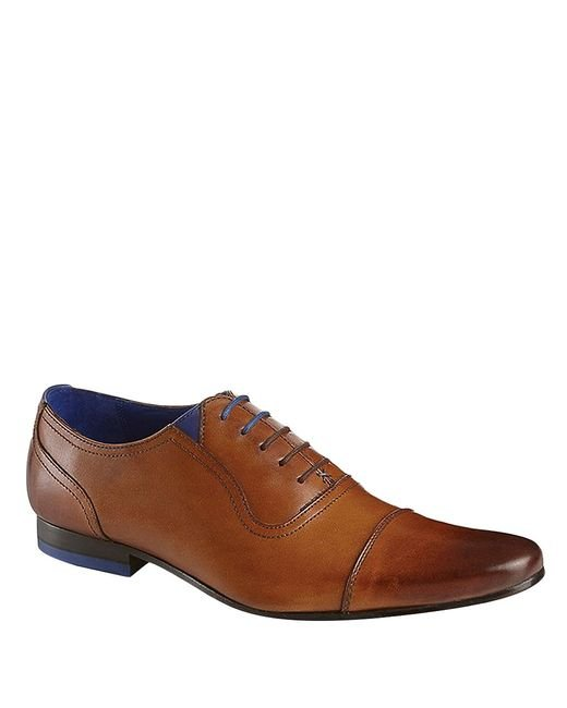 Ted Baker | Brown Rogrr Leather Oxfords for Men | Lyst