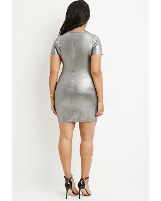 Forever 21   Plus Size Metallic Sheath Dress   Lyst