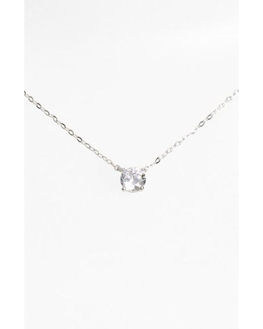 Nadri | Metallic Cubic Zirconia Pendant Necklace | Lyst