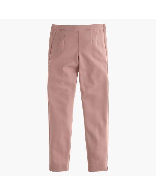 J.Crew | Purple Petite Martie Pant In Bi-stretch Wool | Lyst