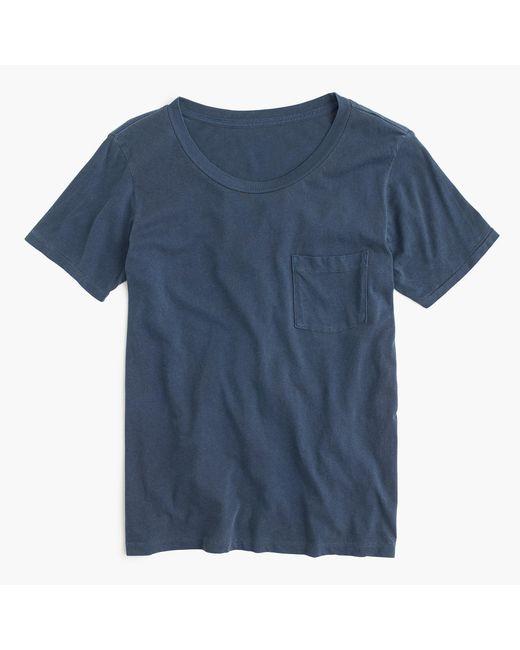 J.Crew | Blue Garment-dyed Pocket T-shirt | Lyst