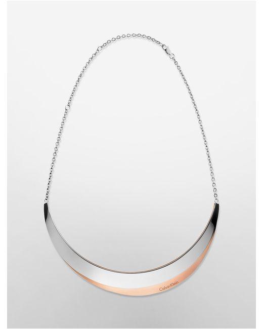 Calvin Klein | Metallic Platinum Breathe Two-tone Necklace | Lyst