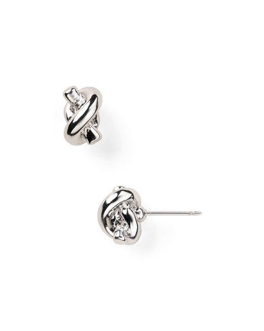 Kate Spade | Metallic Sailor's Knot Studs | Lyst