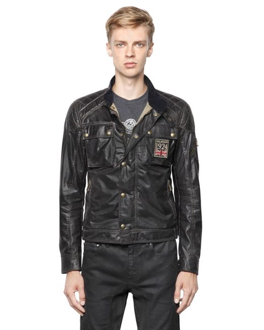 Belstaff Champion Vintage Waxed Cotton Jacket in Black for ...