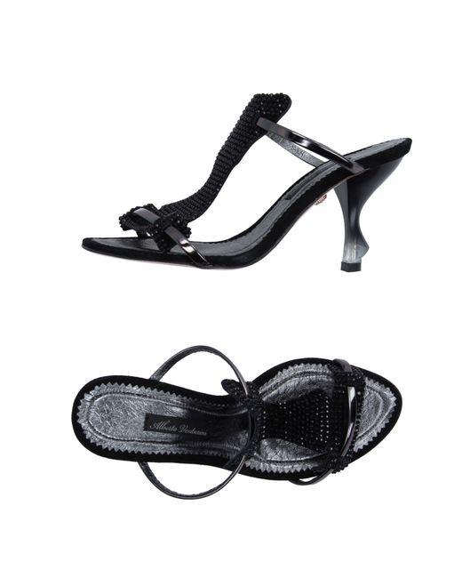 Alberto Venturini | Black Sandals | Lyst
