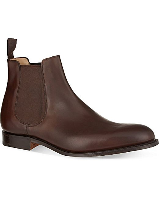 church s houston leather chelsea boots in brown for