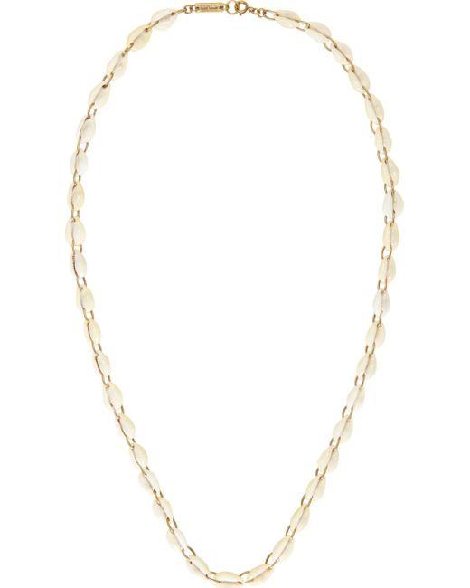 Isabel Marant   White Ivory Seashell Raw Necklace   Lyst