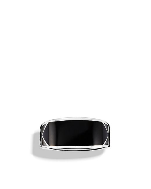 David Yurman | Black Frontier Ring With Nevada Silk Stone for Men | Lyst