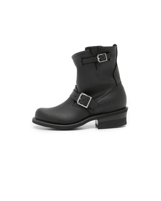 Frye | Black Engineer 8r Boots | Lyst