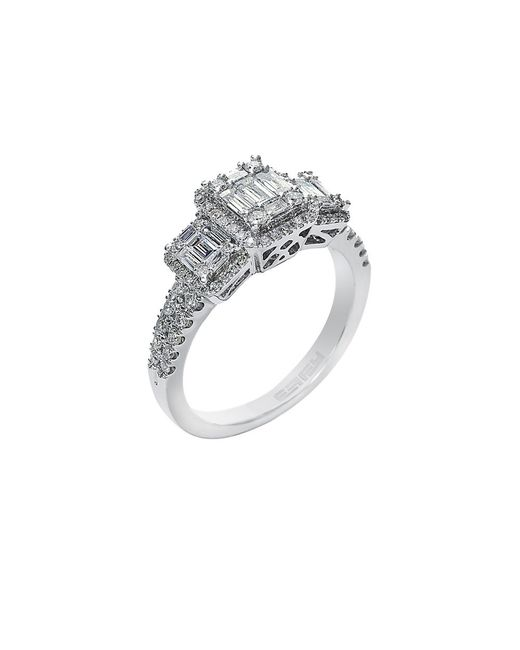 Effy | Metallic Classique Diamond And 14k White Gold Ring 0.73 Tcw | Lyst